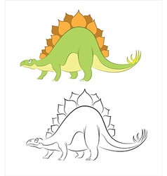 Stegosaur vector image vector image