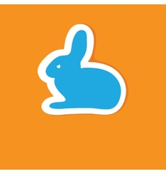Abstract cartoon easter card with cute bunny vector image