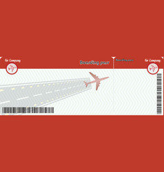 airline passenger boarding pass ticket vector image
