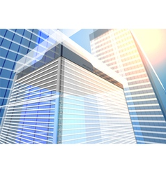 architecture transparent building vector image