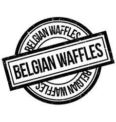 Belgian Waffles rubber stamp vector