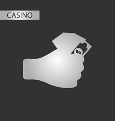black and white style money in hand vector image