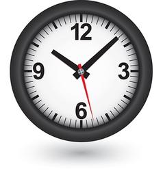 Black clock icon vector