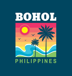 bohol philippines - concept vector image