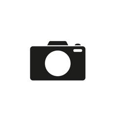 camera photo black icon vector image