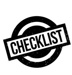 checklist rubber stamp vector image