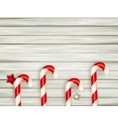 Christmas wooden background EPS 10 vector image