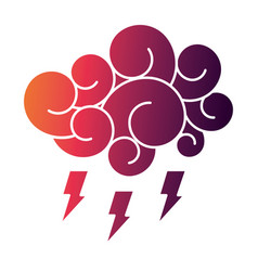 Cloud thunderbolt storm cartoon image vector