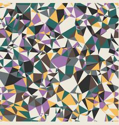 Colored random small triangles bright crazy mosaic vector