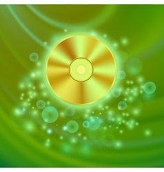 Compact Disc Isolated on Green Wave vector
