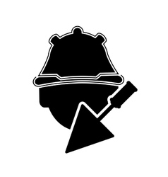 construction worker and trowel icon vector image