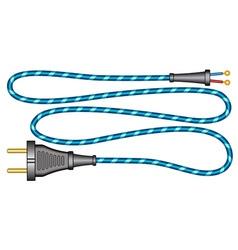 Cord and plug vector