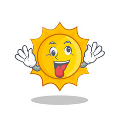 crazy cute sun character cartoon vector image