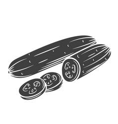 cucumber glyph icon vector image