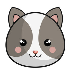 Cute and tender hamster kawaii style vector