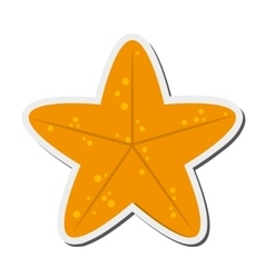 cute starfish icon vector image
