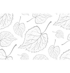 decorative ornamental seamless leaf pattern vector image