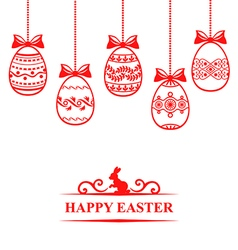 Easter contour hang vector