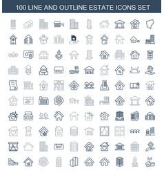 Estate icons vector