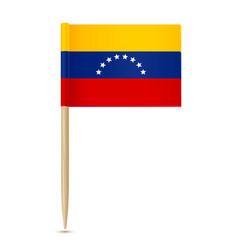 flag venezuela toothpick 10eps vector image