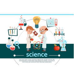 flat science composition vector image
