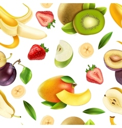Fruits Berries Seamless Colorful Pattern vector image vector image