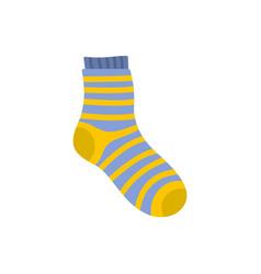 Fuzzy sock icon flat style vector