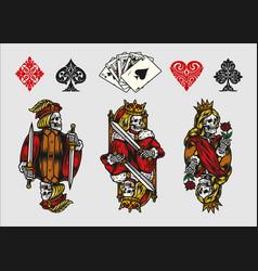 Gambling elements vintage colorful composition vector