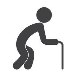 geriatrics icon vector image
