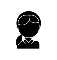 girl head icon black sign on vector image vector image