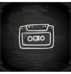 Hand Drawn Cassette vector image
