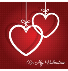 Hanging hearts background 0912 vector