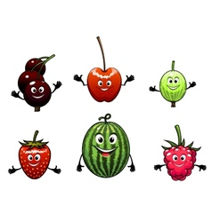 Happy friendly fruit vector image
