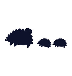 Hedgehogs apple silhouette vector