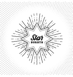 Hipster style vintage star burst with ray vector