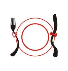 Holiday menu vector image