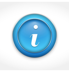 Information Button vector image