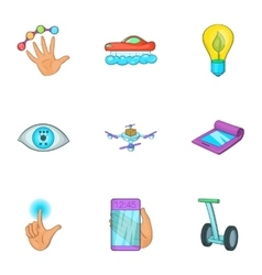 Innovation icons set cartoon style vector image