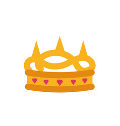 Isolated queen pink and gold crown design vector