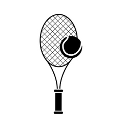 Isolated racket and ball of tennis design vector image