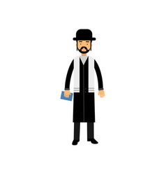 Jewish rabbi character religion representative vector