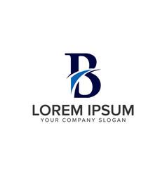 letter b creative logo design concept template vector image