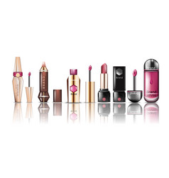 Lipstick cosmetics set collection vector