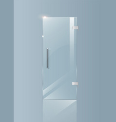Modern glass doors transparent concepts for vector