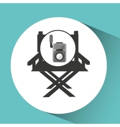 Movie video camera director chair vector