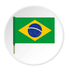 National flag of brazil icon circle vector
