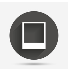 Photo frame template icon Empty photography vector image