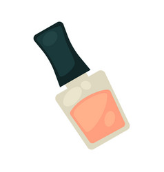 Pink nail varnish in bottle with black cover vector