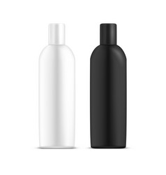 realistic empty bottle design for cosmetic mockup vector image