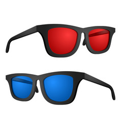 red and blue glasses vector image